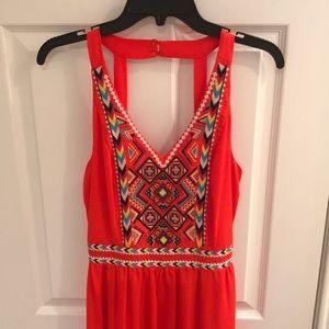 Halter top maxi dress orange